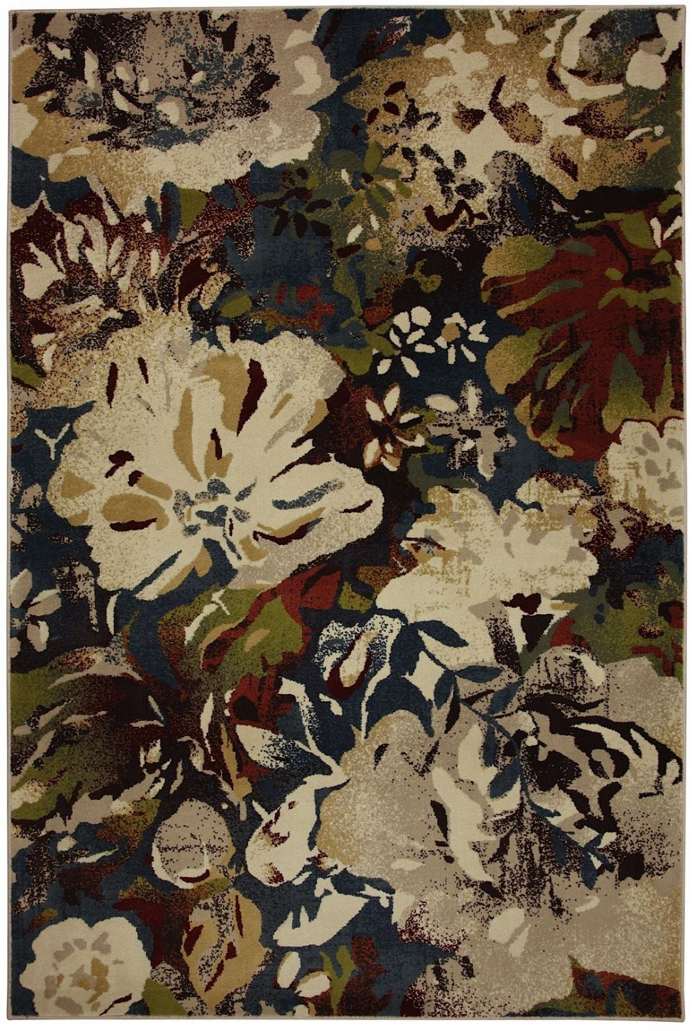mohawk watercolor lagoon country & floral area rug collection