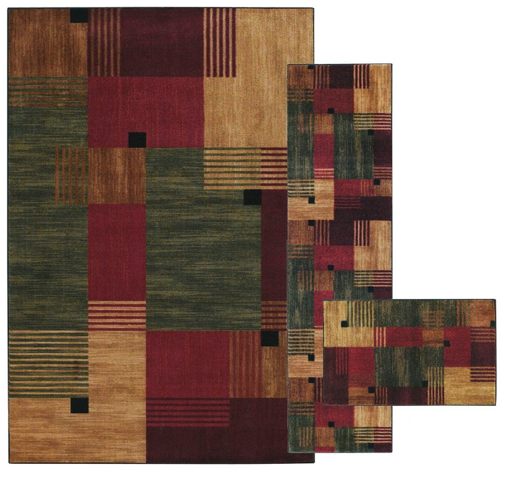 mohawk alliance multi - set of 3 (8x10, 2x8, 1.8x2.10) contemporary area rug collection