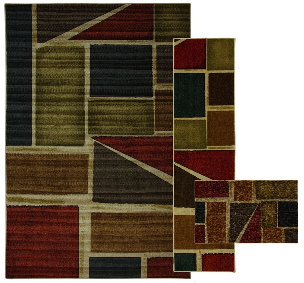 mohawk draycott multi - set of 3 (8x10, 2x8, 1.8x2.10) contemporary area rug collection