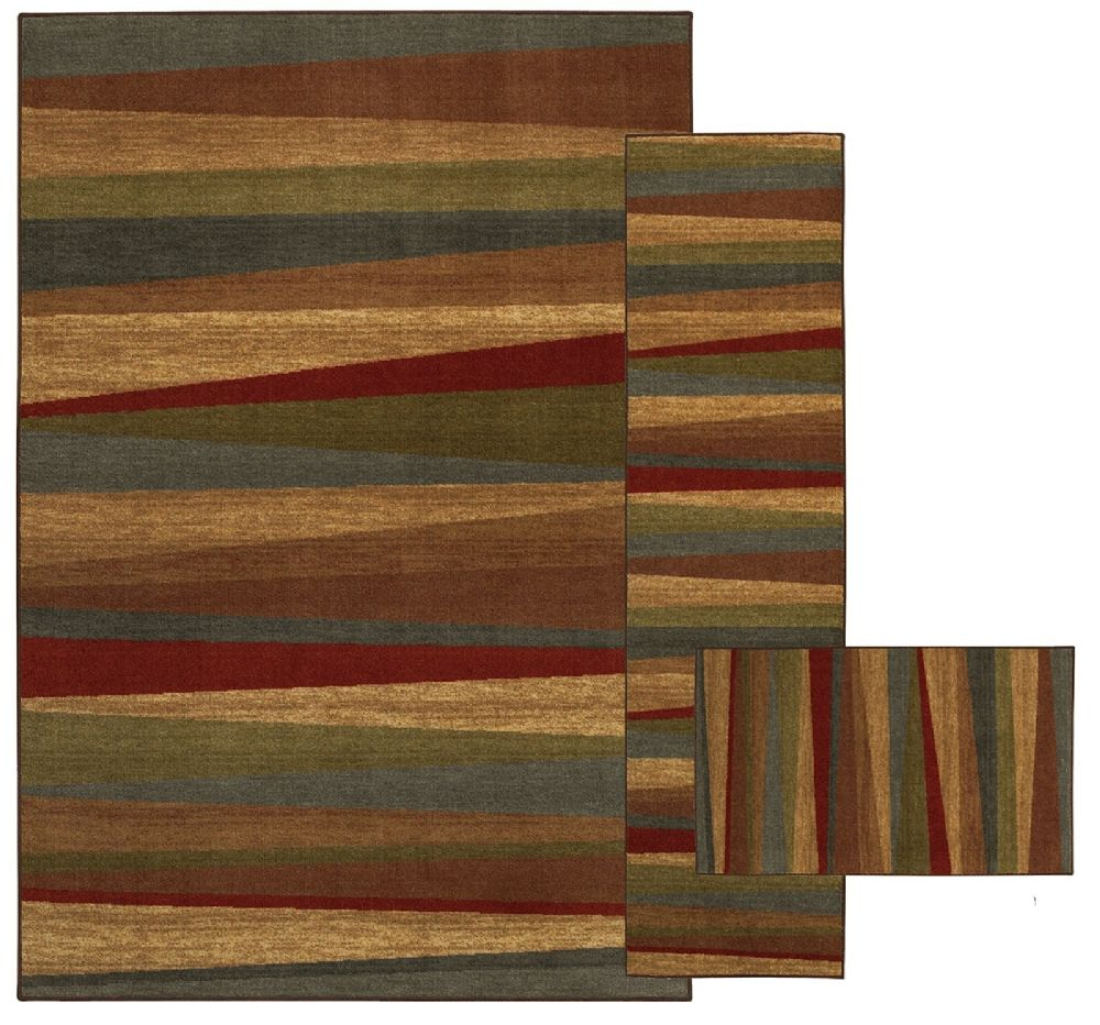 mohawk mayan sunset sierra - set of 3 (8x10, 2x8, 1.8x2.10) contemporary area rug collection