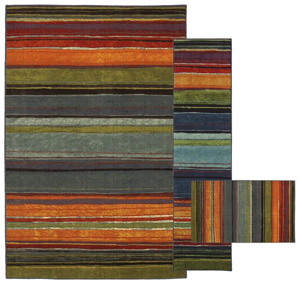 mohawk rainbow multi - set of 3 (8x10, 2x8, 1.8x2.10) contemporary area rug collection