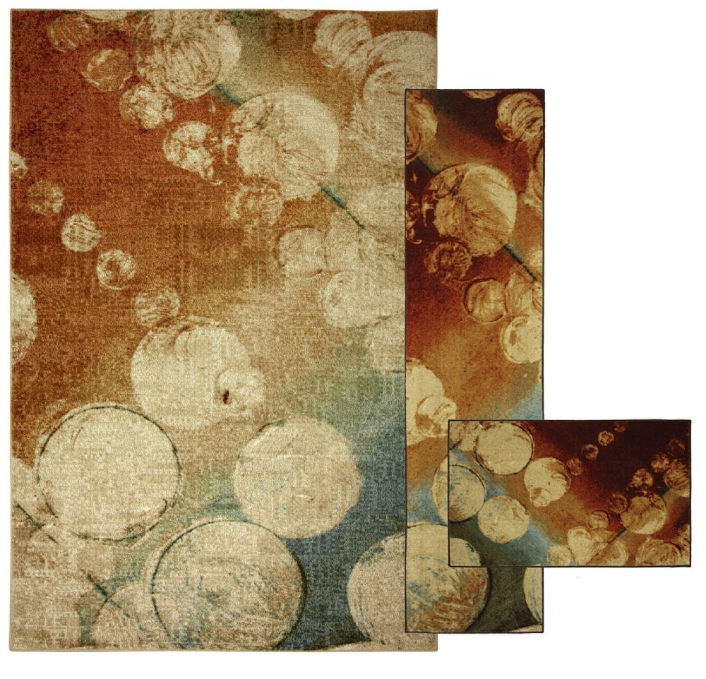 mohawk rain kaleidoscope - set of 3 (8x10, 2x8, 1.8x2.10) contemporary area rug collection