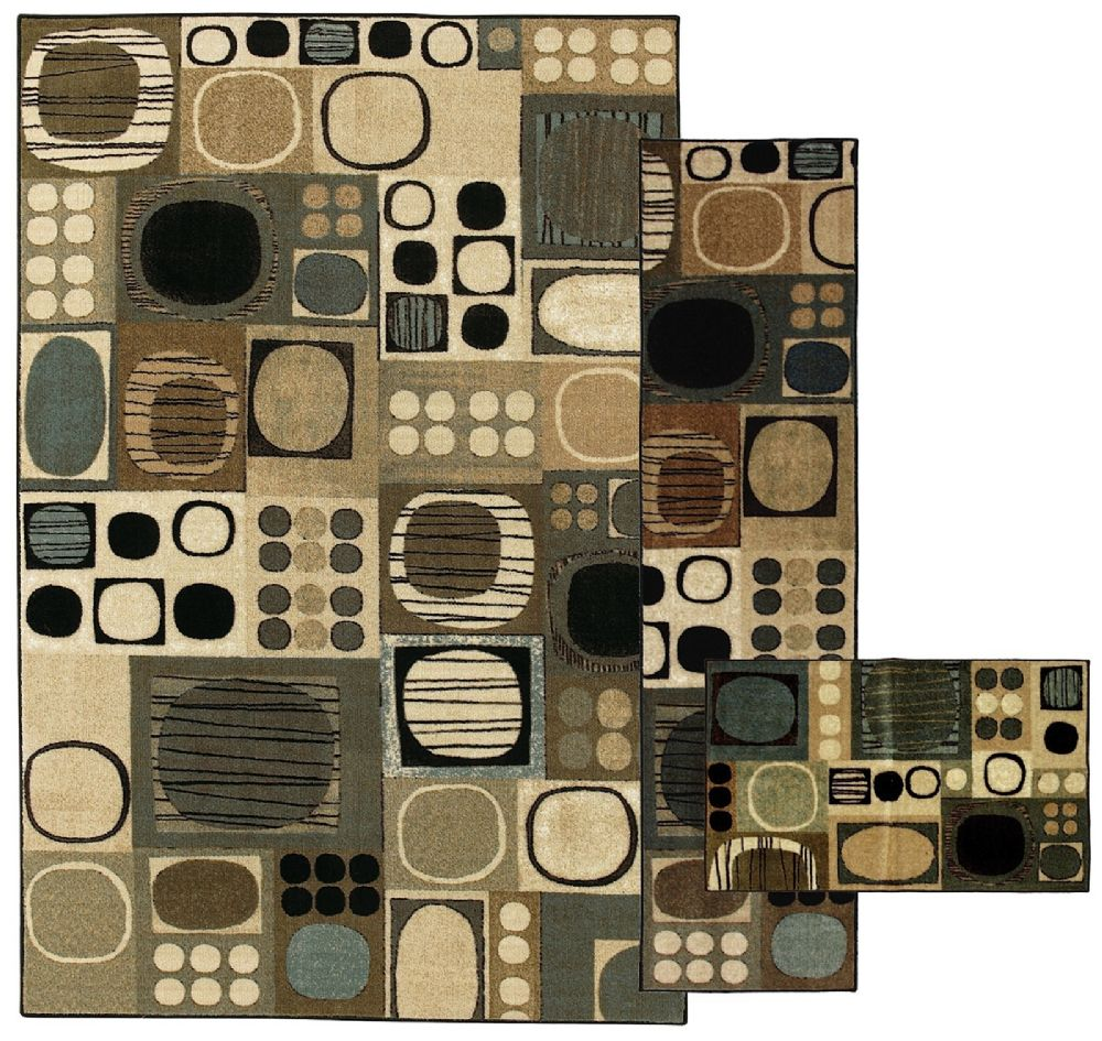 mohawk swing dance neutral - set of 3 (8x10, 2x8, 1.8x2.10) contemporary area rug collection