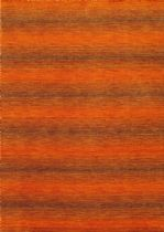 eCarpet Gallery Solid/Striped Luribaft Gabbeh Riz Area Rug Collection