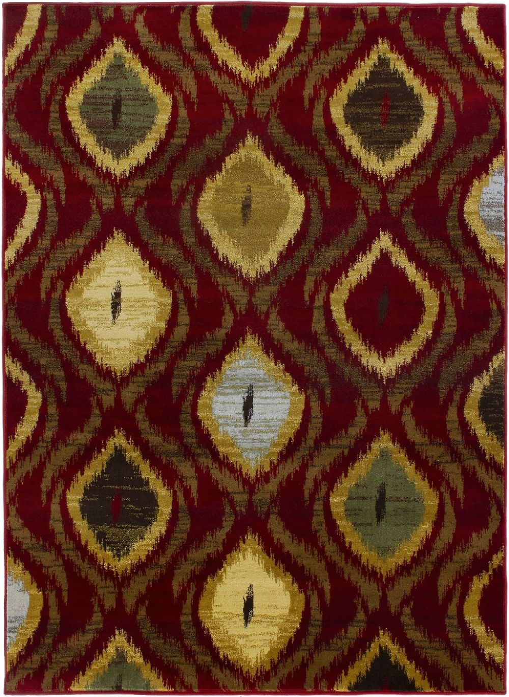 ecarpet gallery ikat contemporary area rug collection