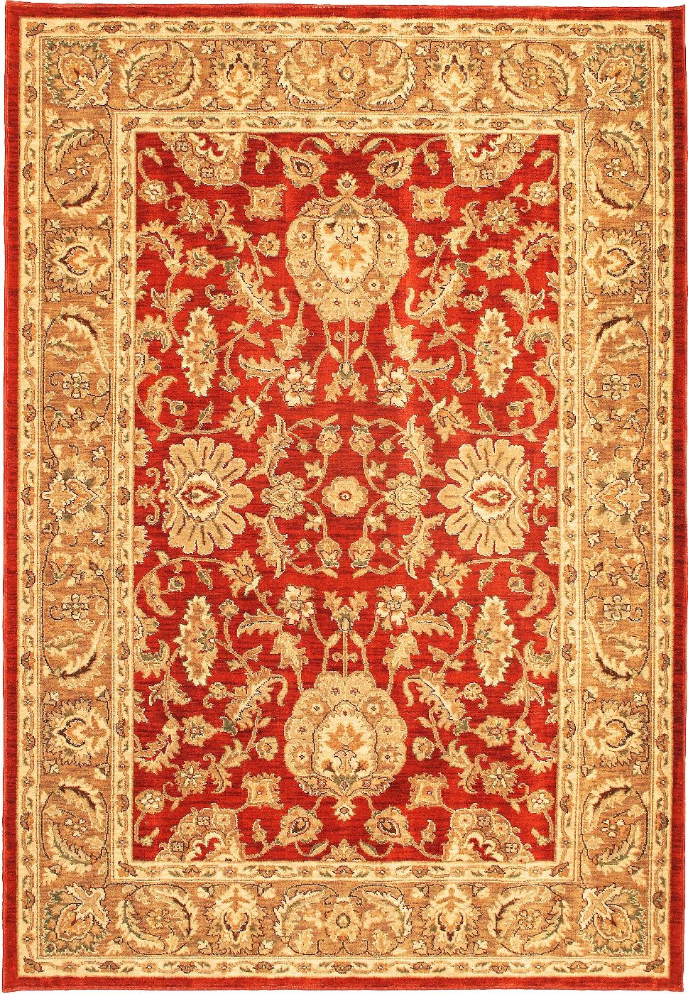 ecarpet gallery lotus garden coral red traditional area rug collection