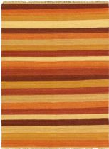 eCarpet Gallery Solid/Striped Fiesta Area Rug Collection