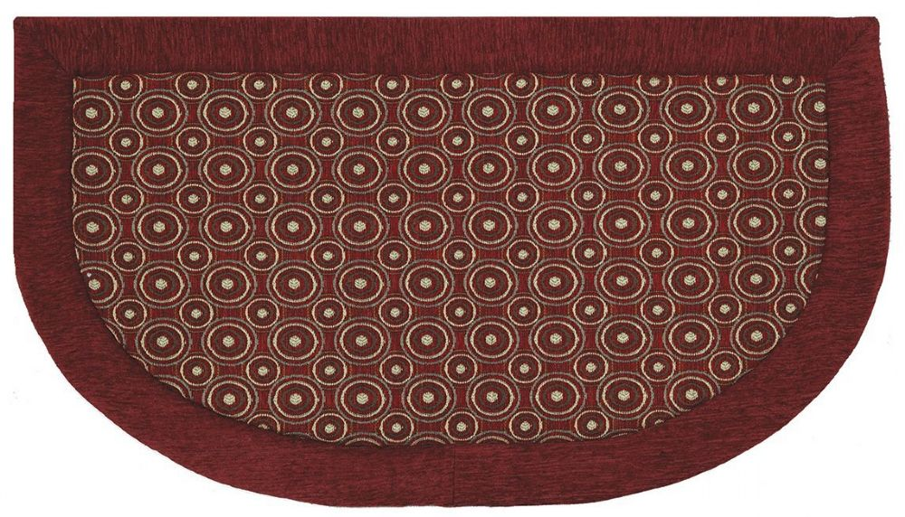 mohawk concentric dots red contemporary area rug collection