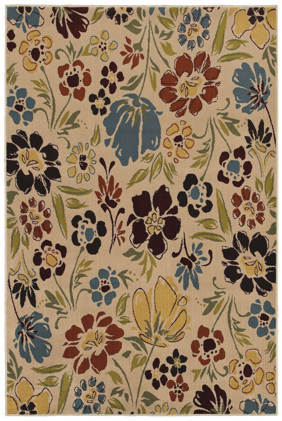 mohawk montero botanical heather country & floral area rug collection