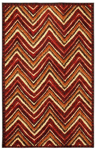 mohawk zig zag stripe contemporary area rug collection