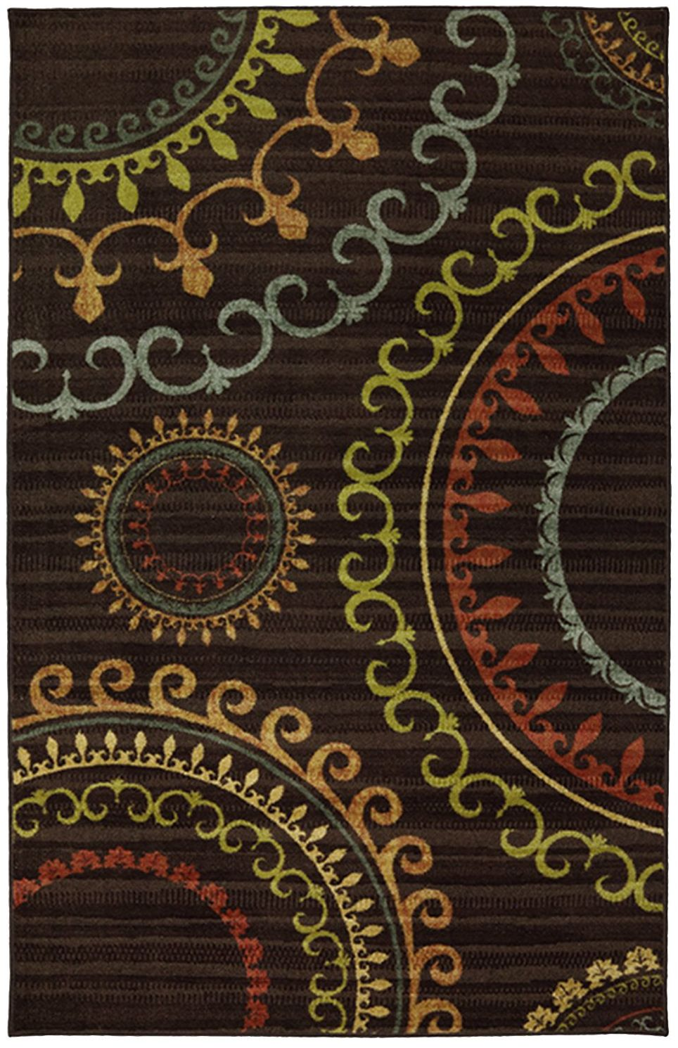 mohawk new suzani panel multi contemporary area rug collection