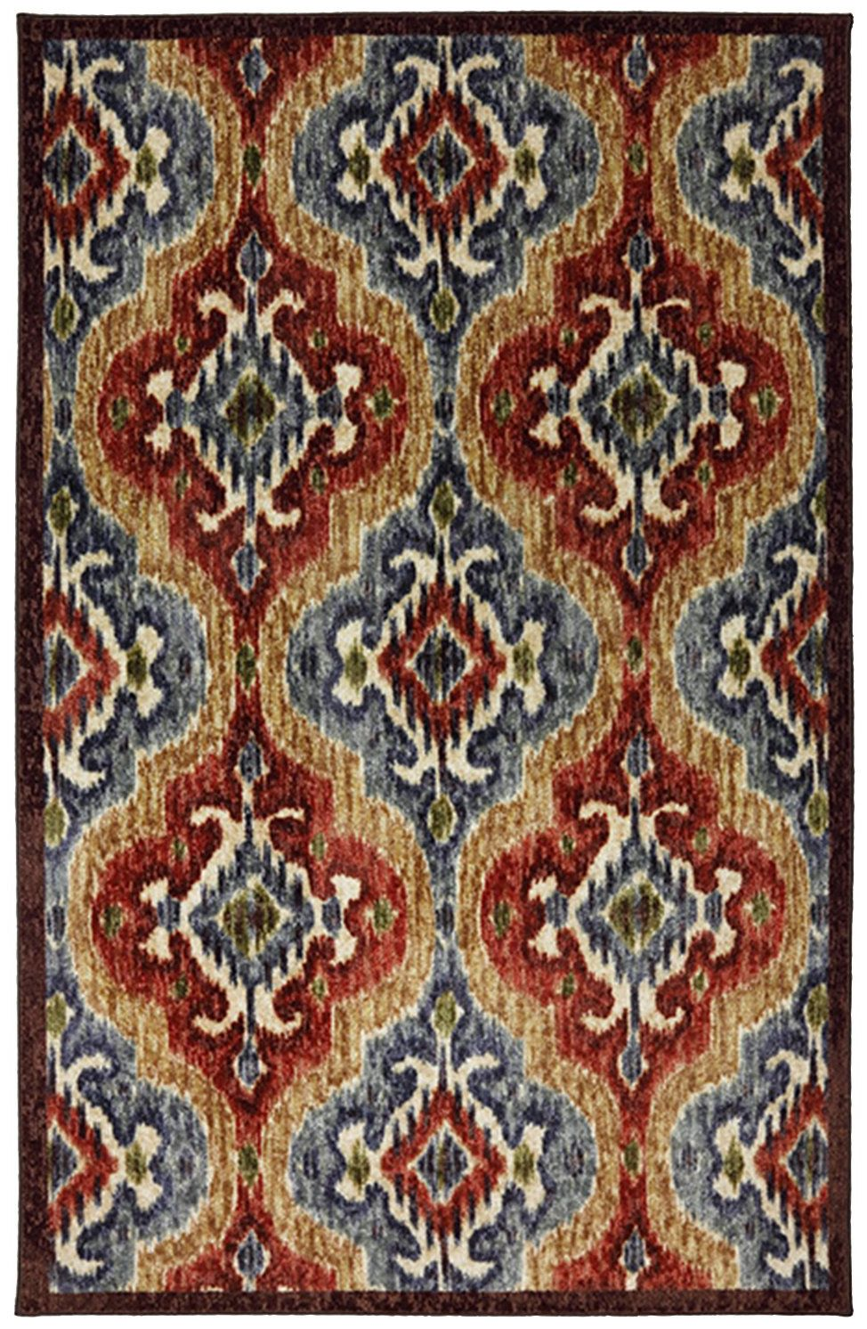 mohawk primary ikat primary contemporary area rug collection