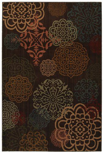 mohawk sienna dark brown contemporary area rug collection