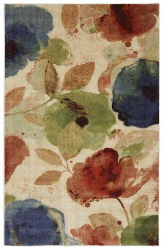 mohawk watercolor floral contemporary area rug collection