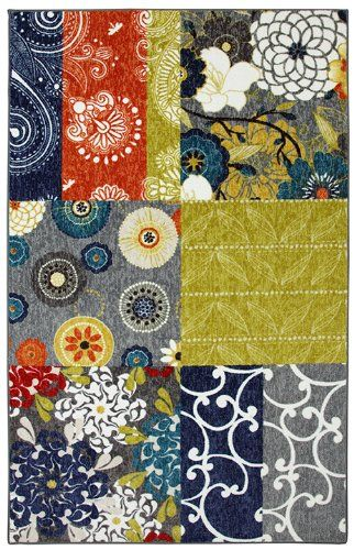mohawk secret garden patch contemporary area rug collection