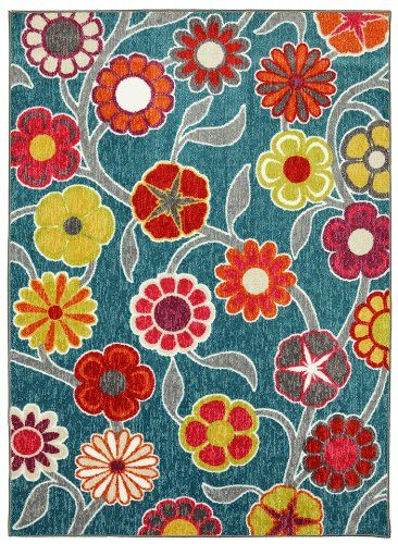 mohawk flower medallions country & floral area rug collection
