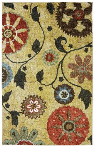 mohawk yellow medallion transitional area rug collection