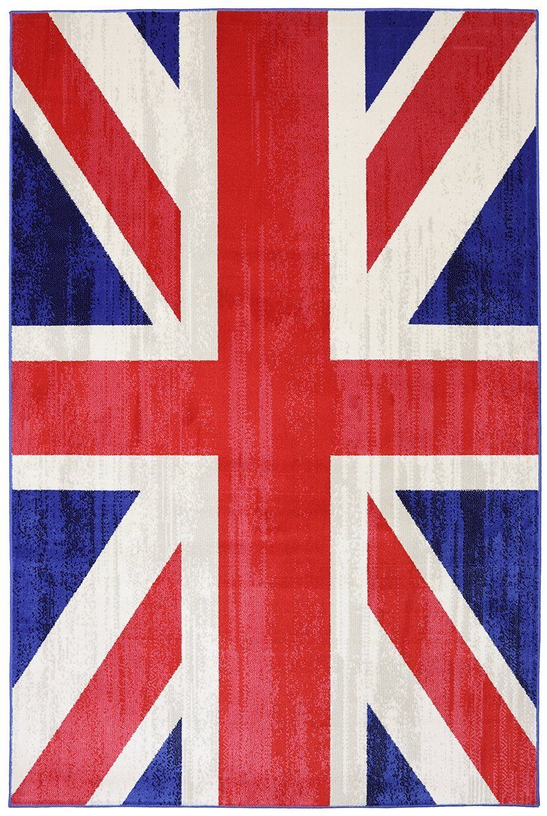 mohawk union jack jockey red contemporary area rug collection
