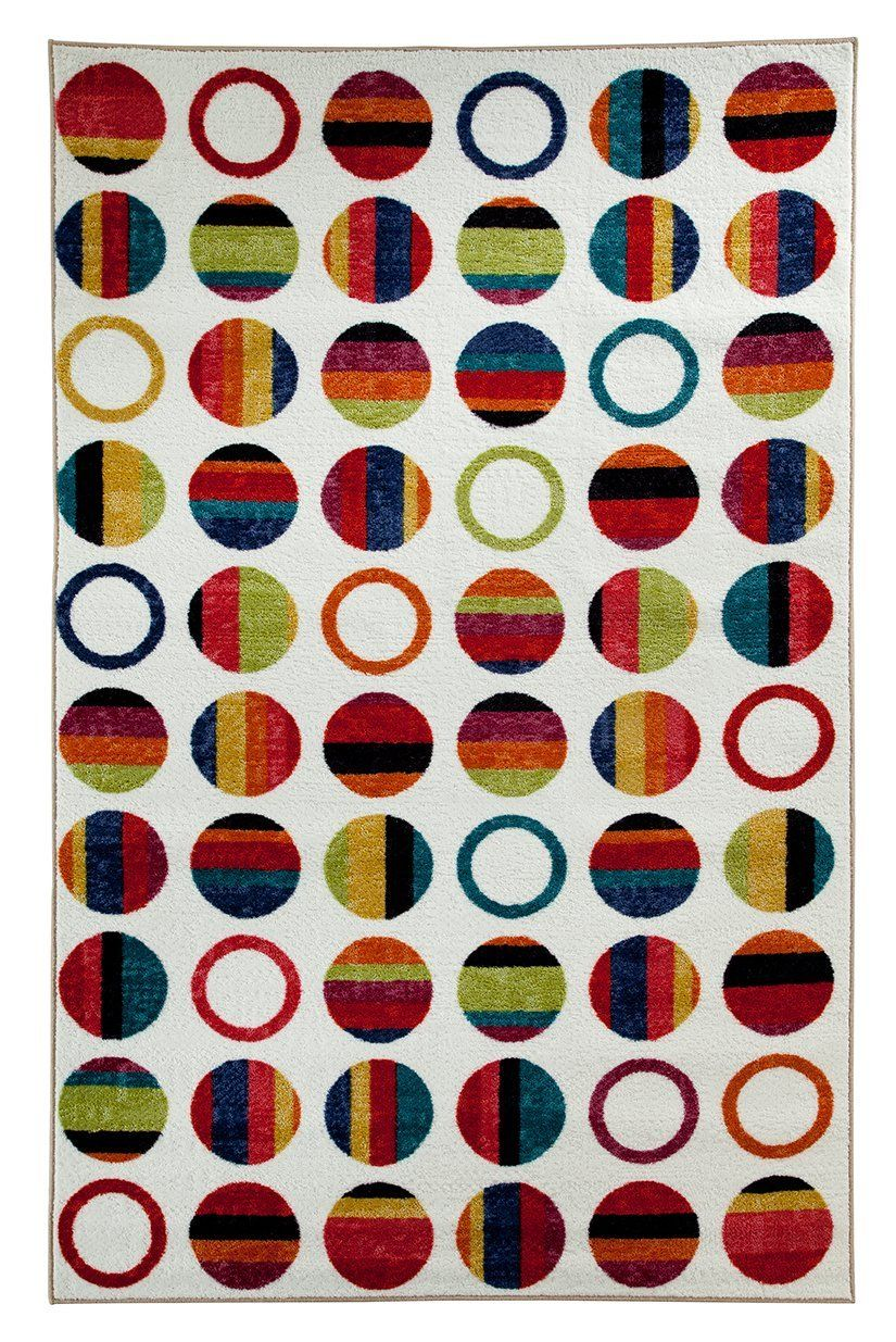 mohawk striped dots rainbow contemporary area rug collection