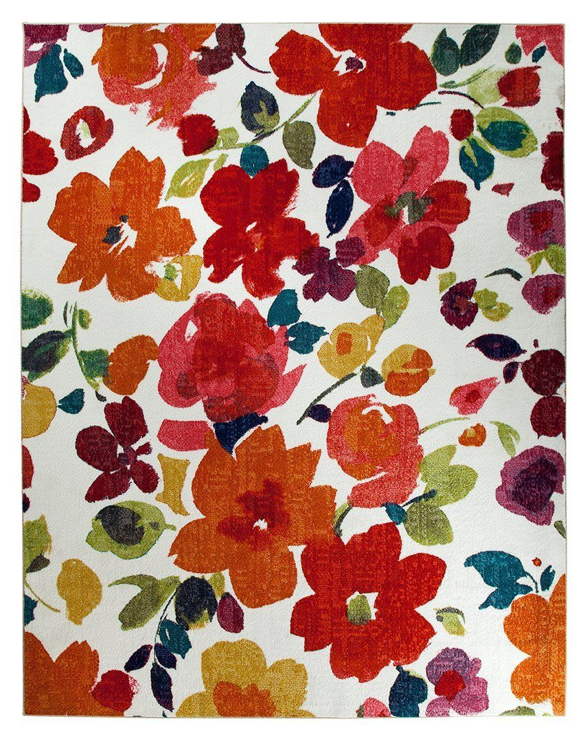 mohawk bright floral toss country & floral area rug collection