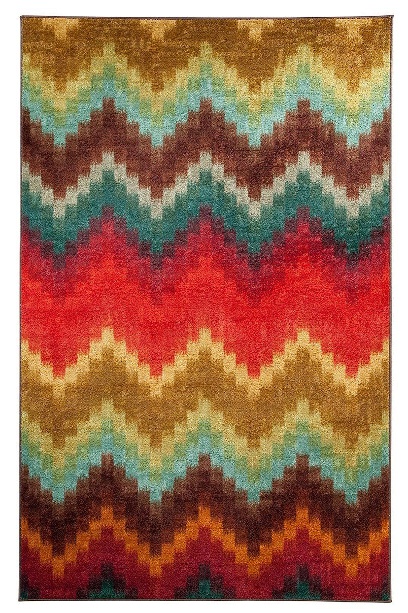 mohawk painted zig zag contemporary area rug collection