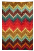 Mohawk Contemporary Painted Zig Zag Area Rug Collection