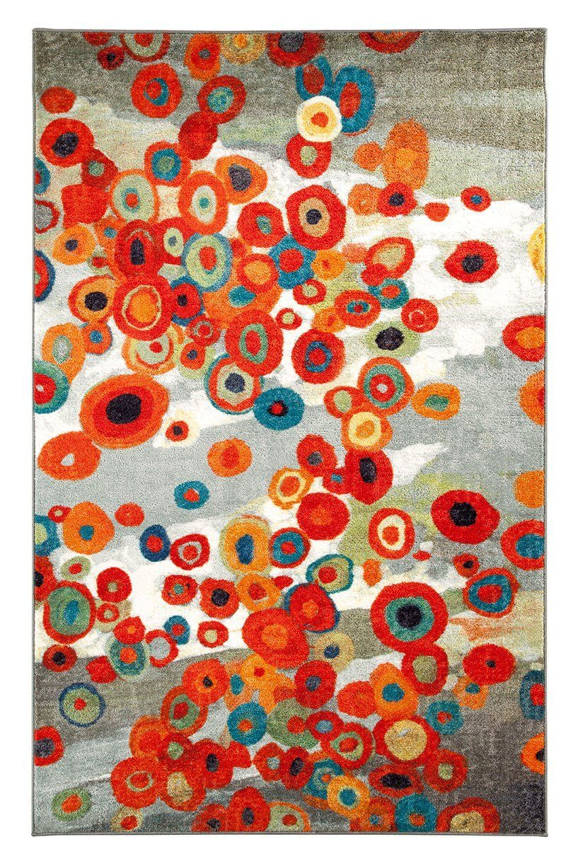 mohawk tossed floral contemporary area rug collection