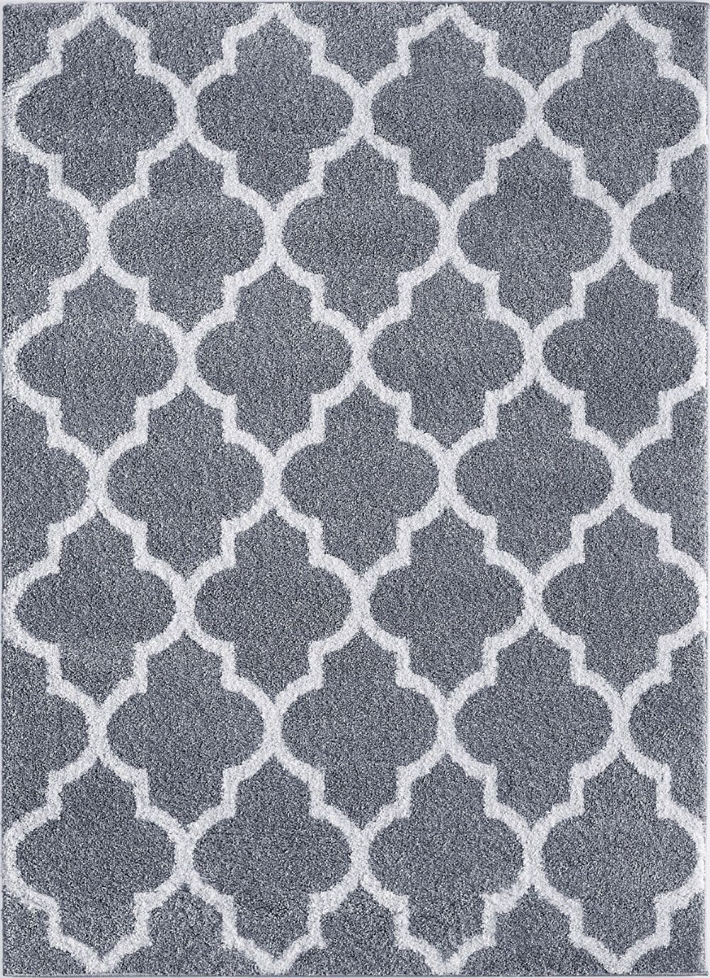 tayse modern shag contemporary area rug collection