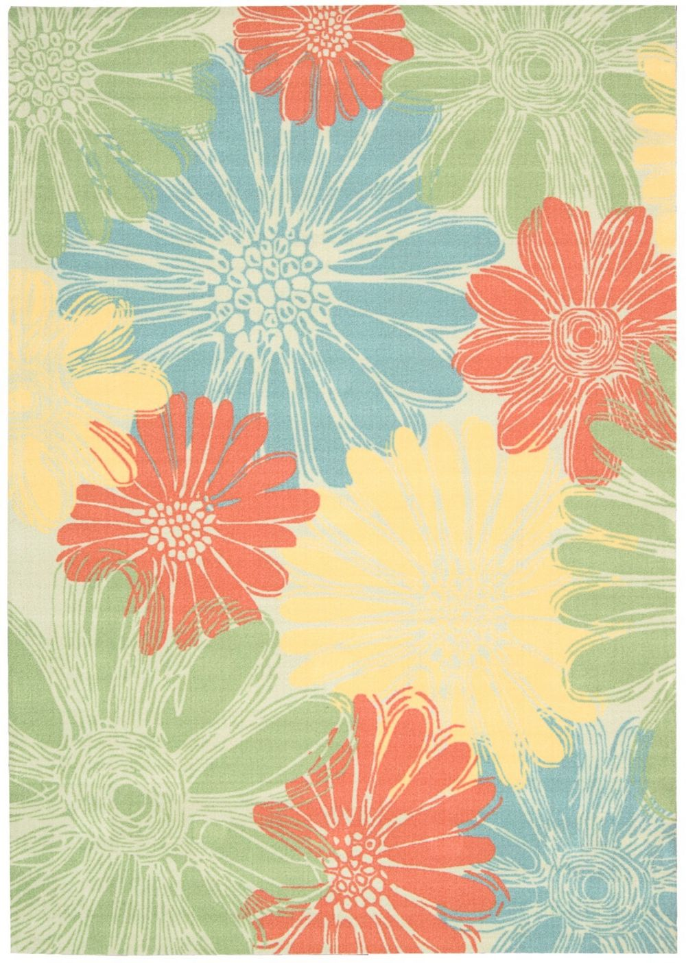 nourison home & garden country & floral area rug collection