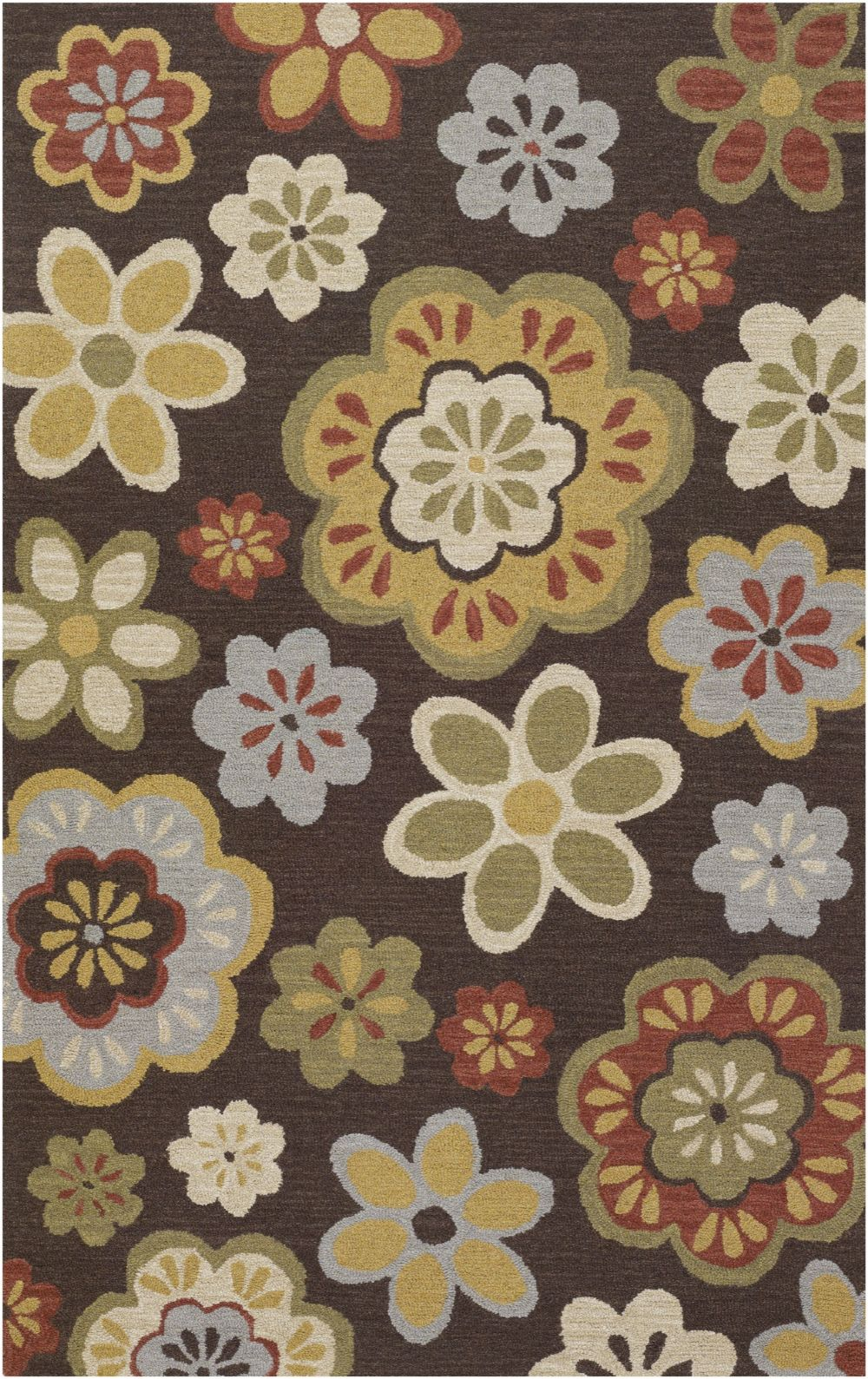 surya foundation country & floral area rug collection