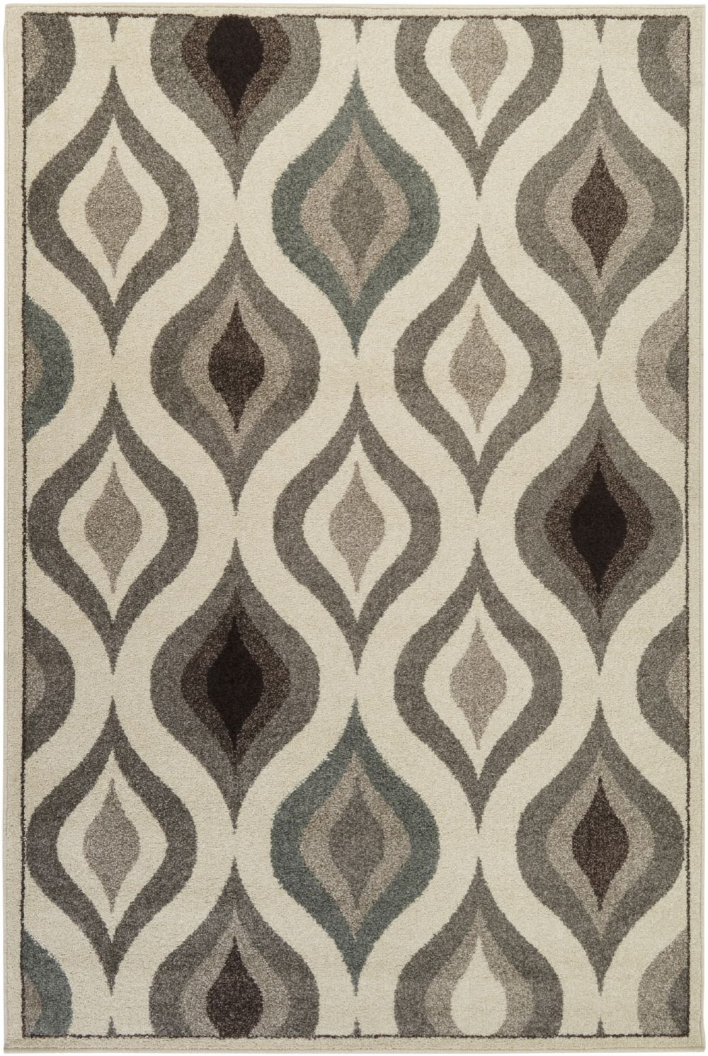 surya lotus contemporary area rug collection