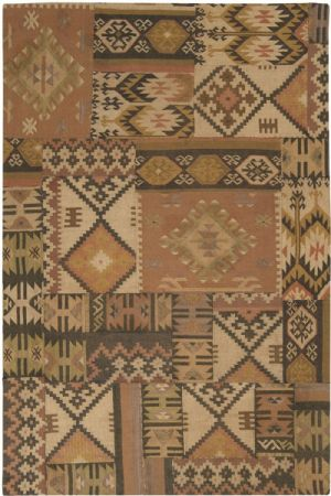 Surya Southwestern/Lodge Patch Work Area Rug Collection