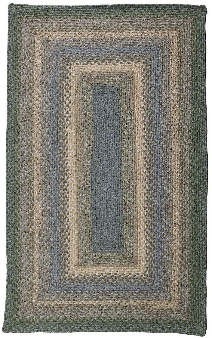homespice decor baja blue braided area rug collection