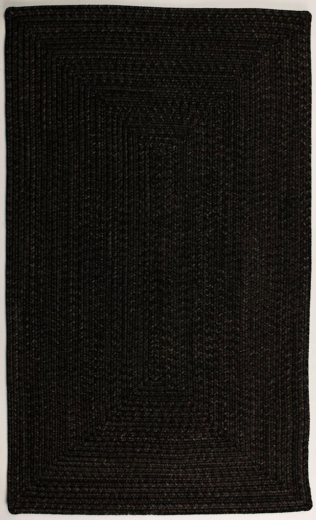 homespice decor black braided area rug collection