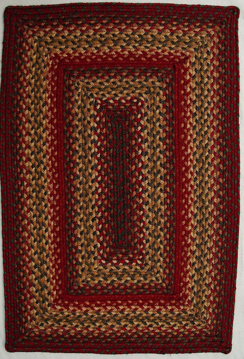 homespice decor cider barn braided area rug collection