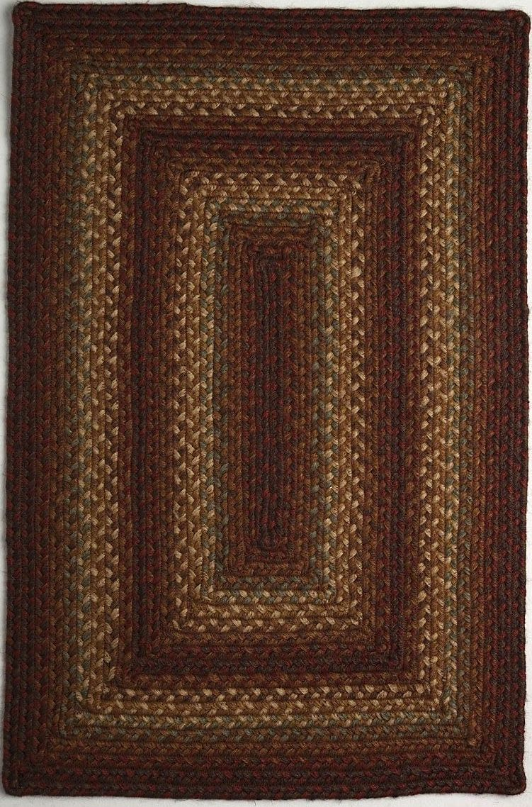 homespice decor cross roads braided area rug collection