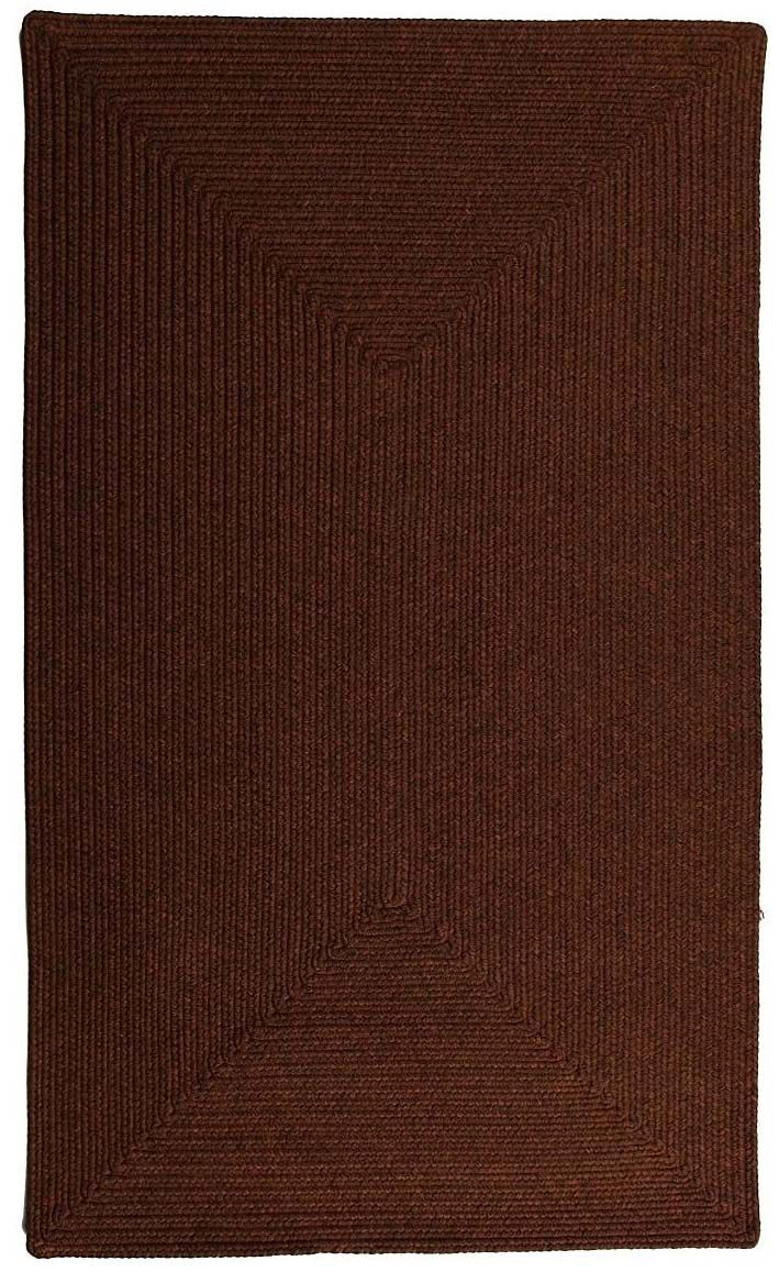 homespice decor espresso braided area rug collection