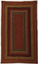 Homespice Decor Braided Four In Nine Patch Area Rug Collection