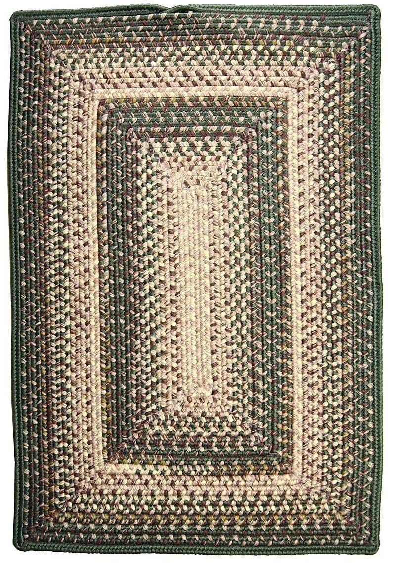 homespice decor green mist braided area rug collection