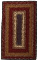 Homespice Decor Braided Log Cabin Step Area Rug Collection