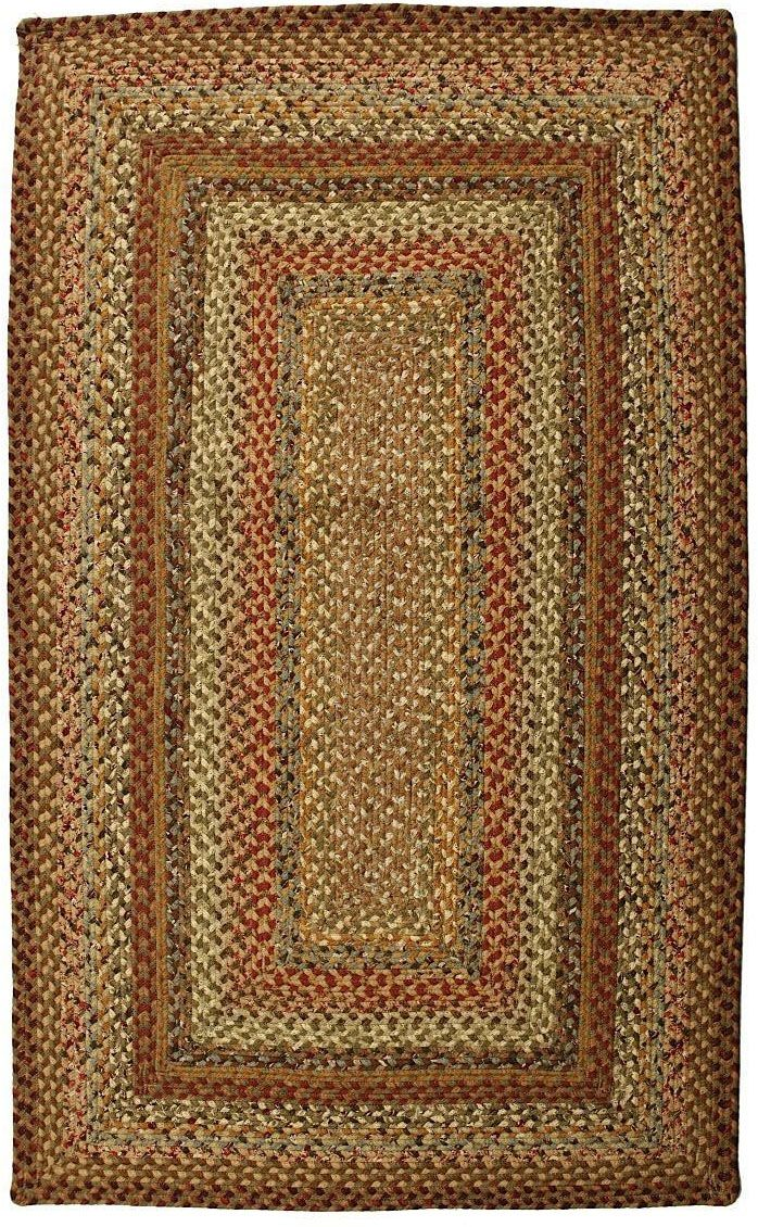 homespice decor mosaic braided area rug collection