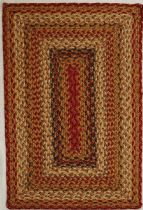 Homespice Decor Braided Mustard Seed Area Rug Collection