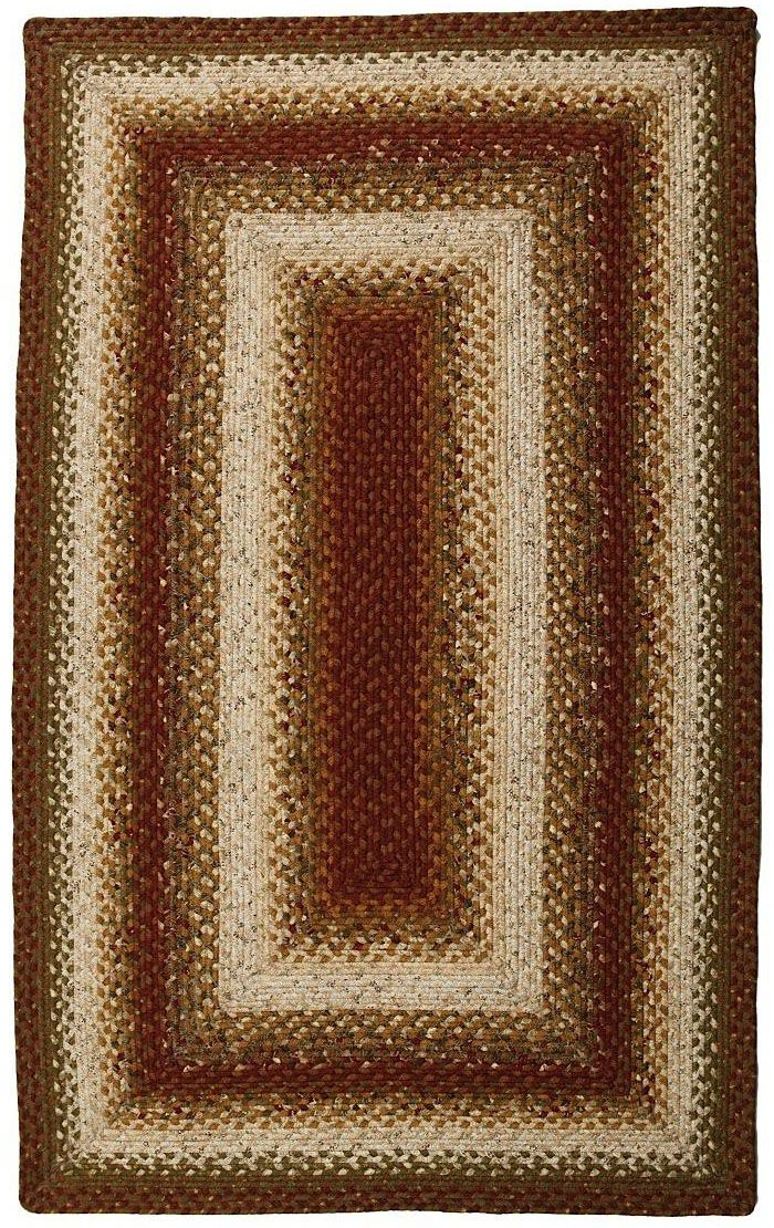 homespice decor olive braided area rug collection