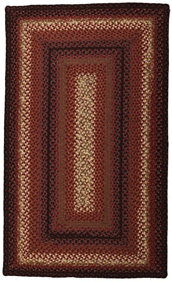 homespice decor plumberry braided area rug collection