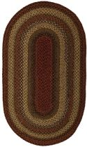 Homespice Decor Braided Pumpkin Pie Area Rug Collection