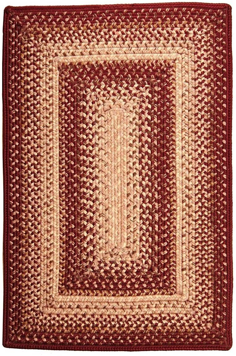 homespice decor red mist braided area rug collection