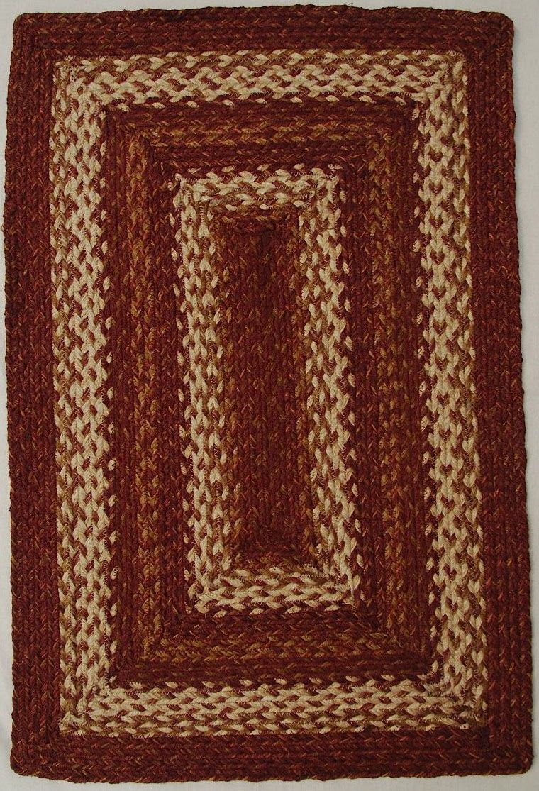 homespice decor redwood braided area rug collection