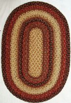 Homespice Decor Braided Russet Area Rug Collection