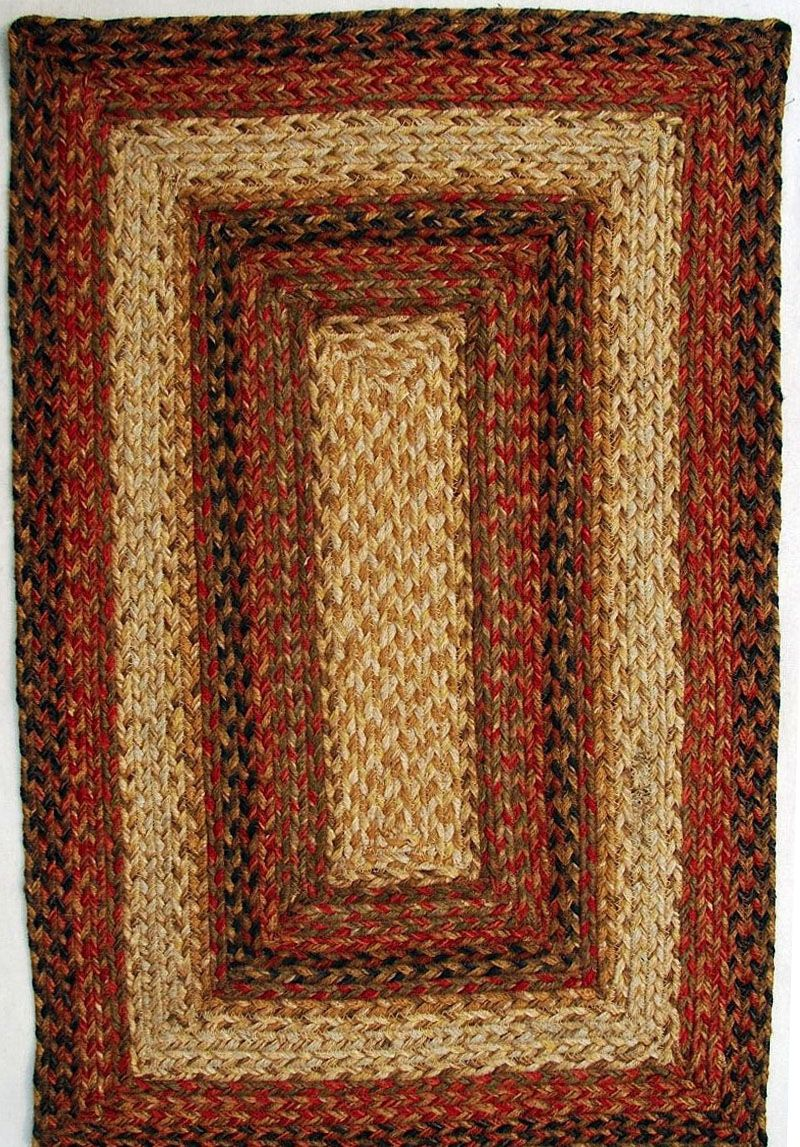 homespice decor russet braided area rug collection