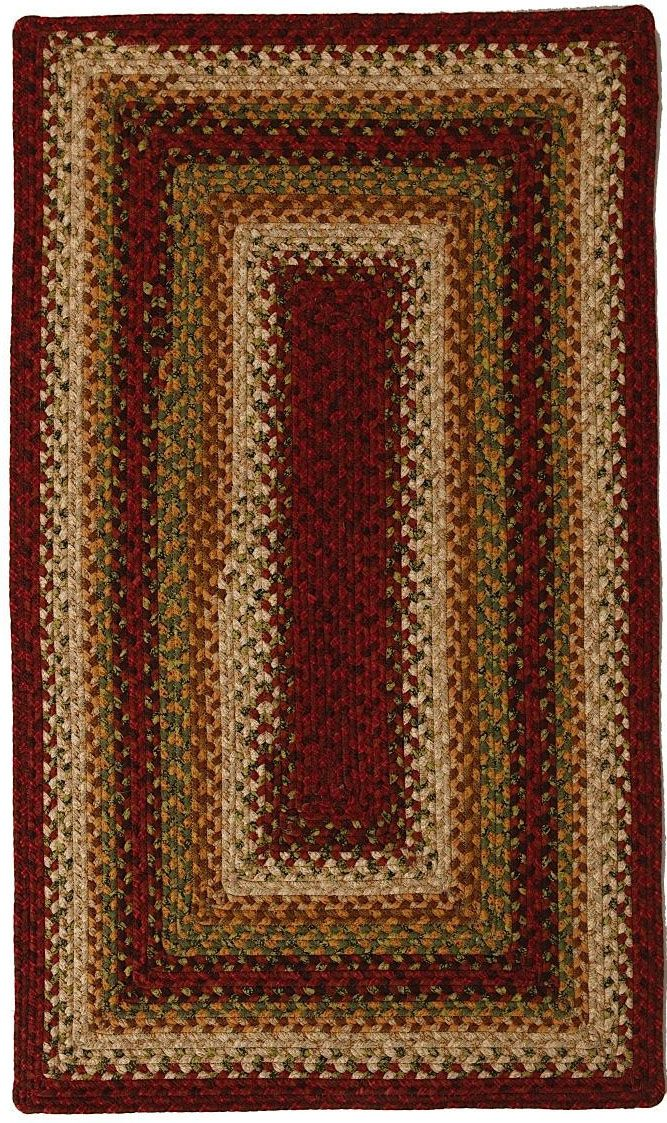 homespice decor santa fe sunrise braided area rug collection